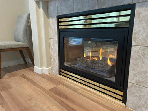Gas Fireplace after cleaning